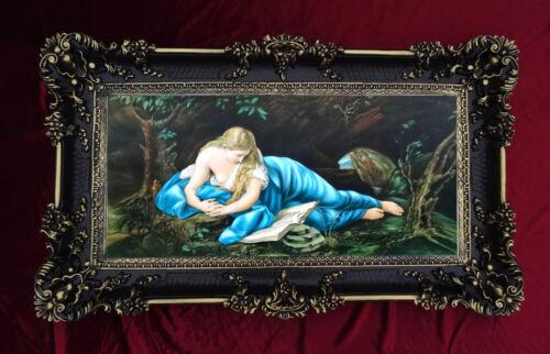 MARIA MAGDALENA Ikonen Bild Religiös Repro Antik look 96x57 Barock Gemälde S