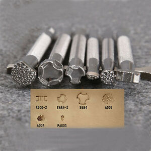 1 Pcs Leather Printing Tool Alloy Carving Stamping Craft System Punch Stamps Kit