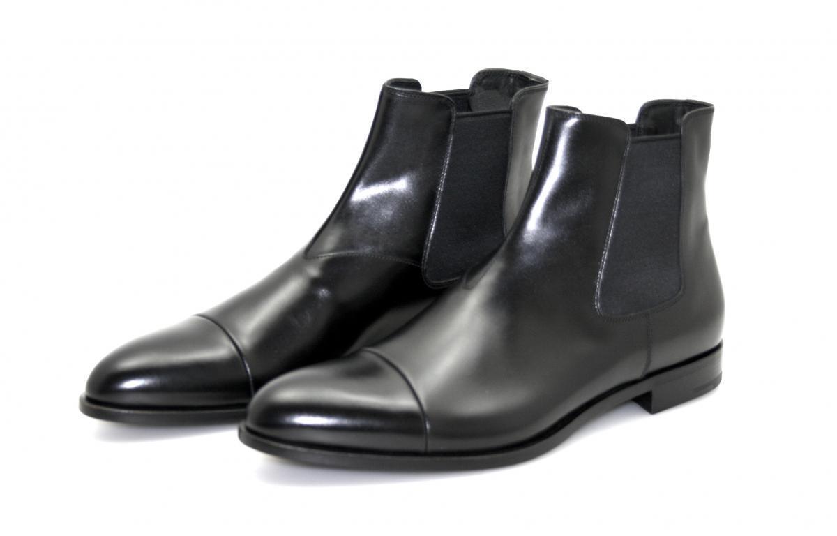 Lujo prada botín zapatos 2ta042 negro cap Toe nuevo New 9 43 43,5