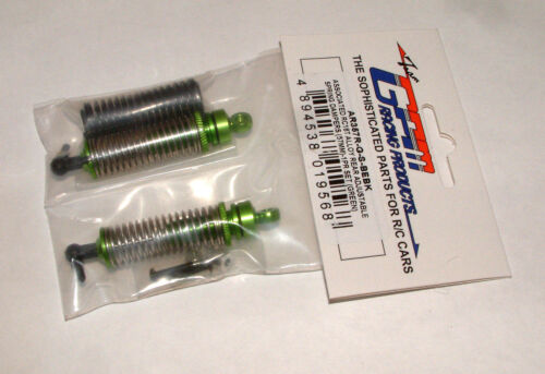 RC18T,18B MT GPM REAR SUPER SHOCKS GREEN ALUMINUM  AR357R