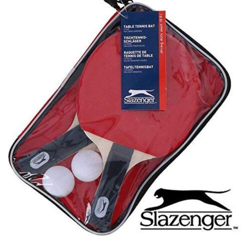 Nouveau Slazenger Tennis de Table Set avec 2 chauves-souris 2 boules /& Sac