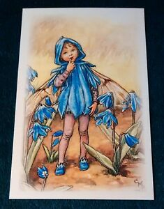 Cicely Mary Barker Flower Fairy Postcard NEW Scilla Fairy