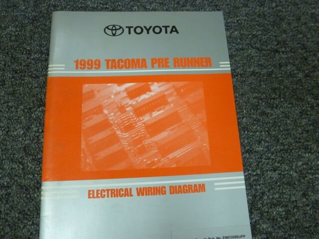 1999 Toyota Tacoma Prerunner Truck Electrical Wiring Diagram Manual Limited