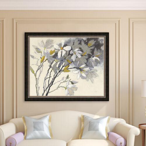 Bloomsbury Market /'Magnolia Yellow /& Gray/' Framed Print