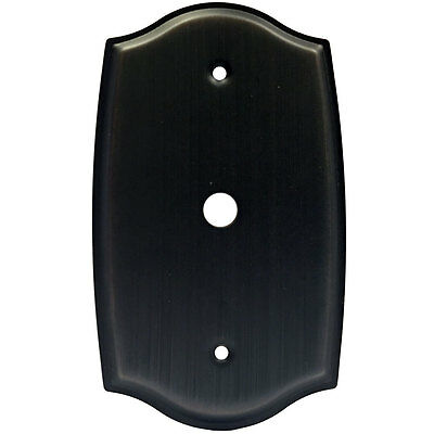 Oil Rubbed Bronze Cable TV Wall Plate