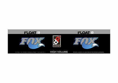 FOX Float X2 2019 Rear Shock Suspension Sticker Factory Decal Kit Green