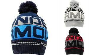 f08ebc29d Details about UNDER ARMOUR RETRO POM POM 2.0 THERMAL MENS GOLF BOBBLE HAT  /Pompom BEANIE