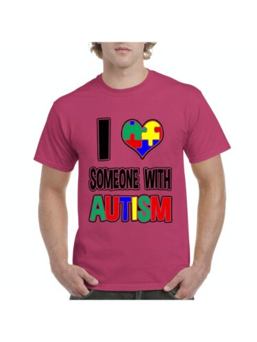 Autism Awareness T-Shirt I am Loving Someone with Autism  Mens Shirts