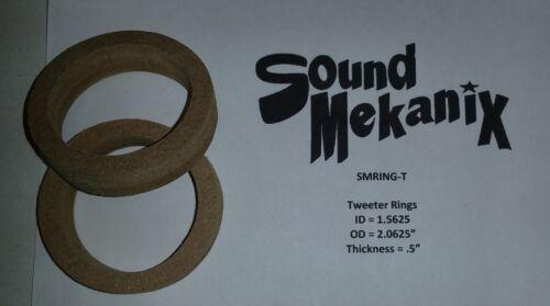 "MDF Speaker Tweeter Rings 1//2/"" Thick One Pair Made In USA Spacer Rings"