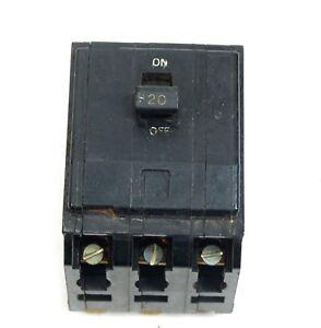 QO320 3-Pole Square D Circuit Breaker 20 Amp