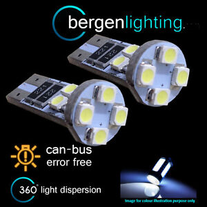 2x-W5W-T10-501-Errore-Canbus-libero-BIANCO-8-LED-Luce-Laterale-Lato-Lampadine-sl101601
