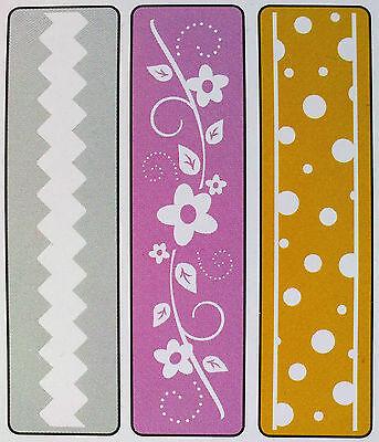Sizzix Embossing Folder Rick-Rack Flowers or Dots Border / Carpeta de Frontera