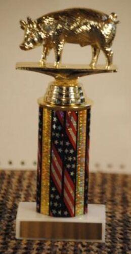 "Free engraving 10/"" Hog Pig Trophy Award"