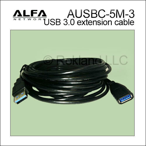 16 feet USB 3.0 compliant extension cable for AWUS036ACH AWUS1900 more ALFA 5m