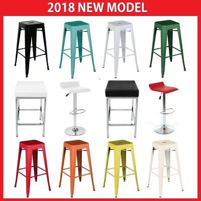 Incredible 4X Tolix Pu Leather Bar Stools Metal Steel Resturant Kitchen Cafe Dining Chair Ebay Creativecarmelina Interior Chair Design Creativecarmelinacom