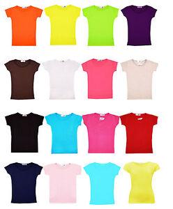 09b6388670588 Fille Uni Gym   Danse Haut Enfants T-Shirt Manches Courtes Nouveau ...