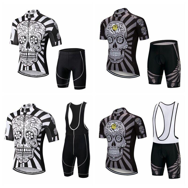 Skull 2018 Men Mtb Jersey Set Summer Mountain Bicycle Bike Clothing Cycling Set