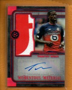 Timothy Weah 2019-20 Topps Museum UEFA Jumbo Ruby Patch Auto /25 See description