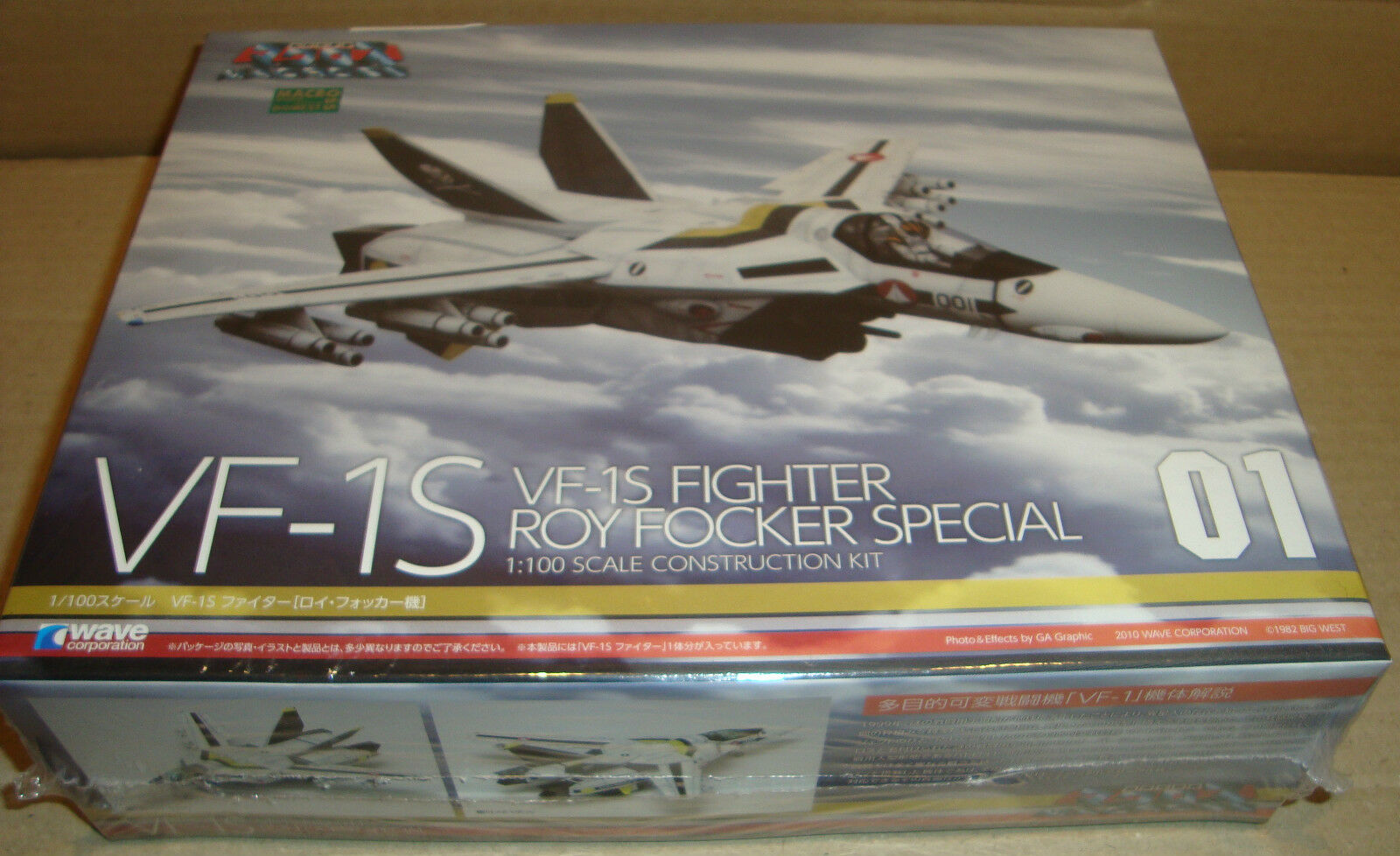 MACROSS VF-1S FIGHTER ROY FOCKER SPECIAL 01 1 100 SCALE CONSTRUCTION KIT WAVE
