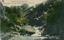 Argentina Sierra de Cordoba Ascochinga - Cascada de los Algarrobos old postcard