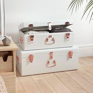 Image is loading Vintage-Suitcases-Stackable-Storage-Trunks-Set-Bedroom- Storage- & Vintage Suitcases Stackable Storage Trunks Set Bedroom Storage ...