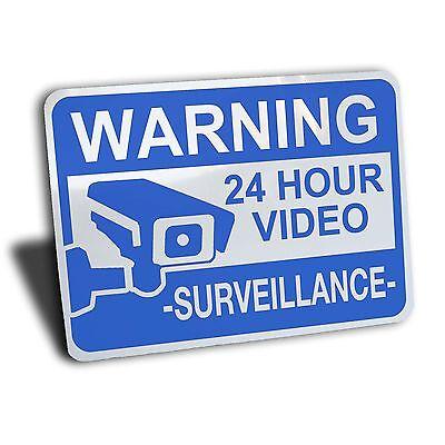 15*10cm Aluminum 24 Hour Video Surveillance Security Sign CCTV Warning Sign