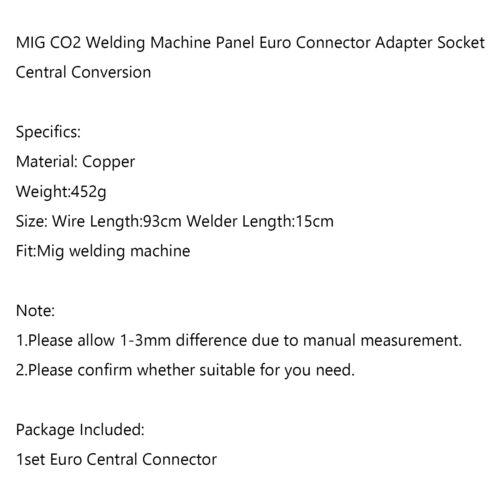MIG MAG Euro Zentraladapter Umbausatz Umbauset Zentralanschluss AH