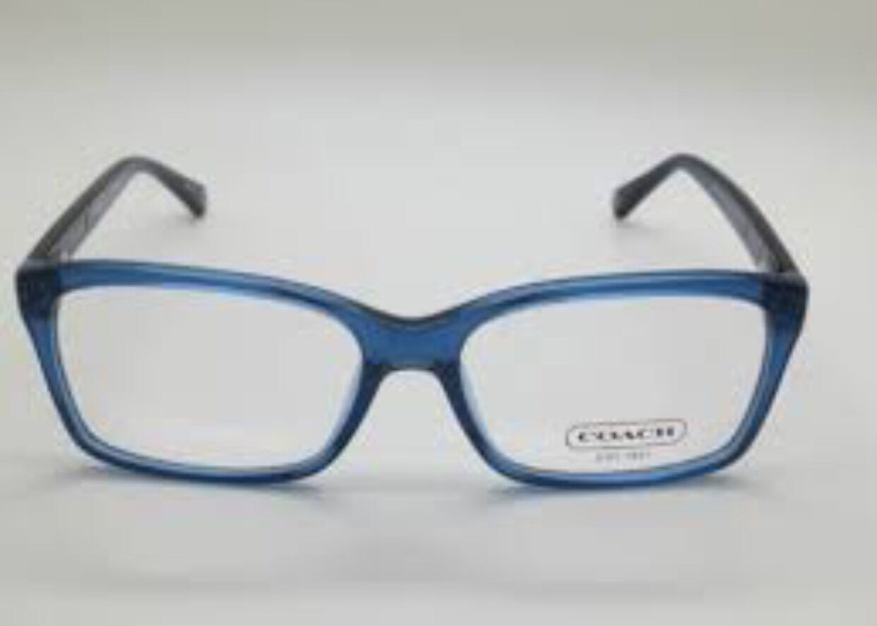 New COACH Frames Blue Plastic Women Eyeglasses HC 6043 Addison 5028 ...