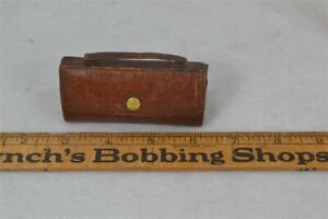 old-sewing-kit-leather-suitcase-purse-shape-contents-dates-1890-1900-original-vg