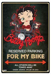 BETTY-BOOP-BIKER-PARKING-SIGN-For-my-bike-BETTY-BOOP-PARKING-SIGN-SHE-SHED-SIGN