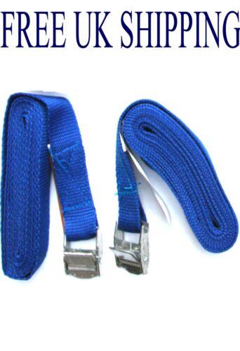 PAIR cam buckle tie down straps strap cords luggage cargo rack lash roof bike