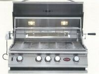 Cal Flame P4 - 32 Inch Drop In Built In Grill Bbq13p04 Open Box Returned Item. Grills and Smokers