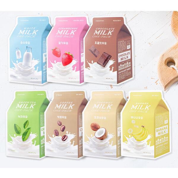 [A'PIEU] Milk One Pack 21g 7 Type New - Korea Cosmetics