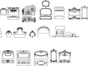 Details about collection of bed frame design dxf file for cnc router- cnc  vector Ready to Cut