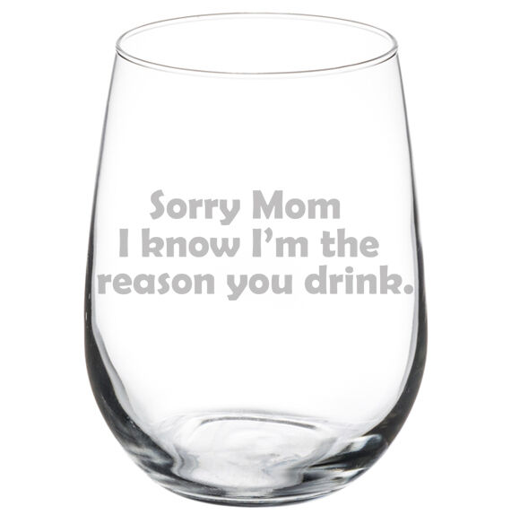 Im 40 Bitches Funny Laser Etched Stemless Wine Glass Perfect Gift 11 oz