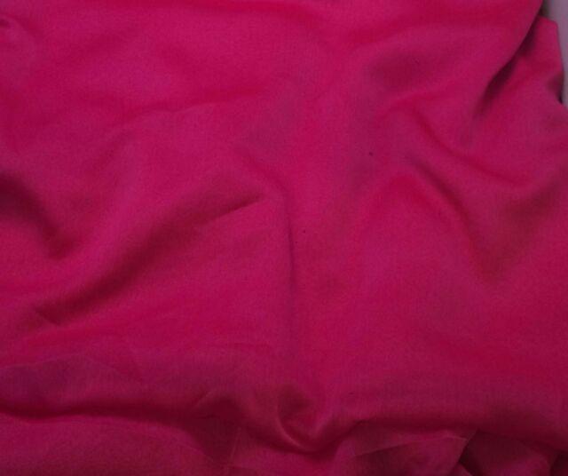 Faux Silk CHIFFON Fabric IRIDESCENT HOT PINK 1/3 yard remnant