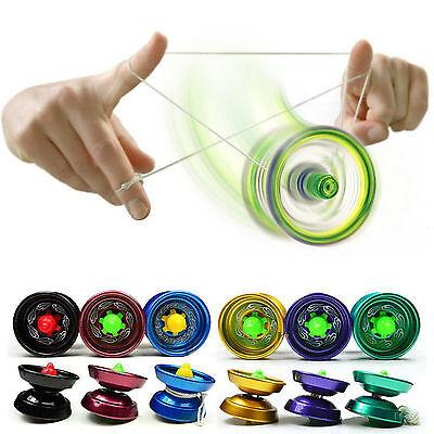 Aluminum Yoyo Ball Trick JoJo Yo-Yo Kugellager Spielzeug mit Kupplung Für Kinder
