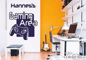 Namen-Wandtattoo-Gaming-Area-Gamer-Konsole-Playstation-Xbox-PC-Cordeko