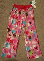 Up Late Girls' Cupcake Print Fleece Pajama Pant; Size 6/6x,