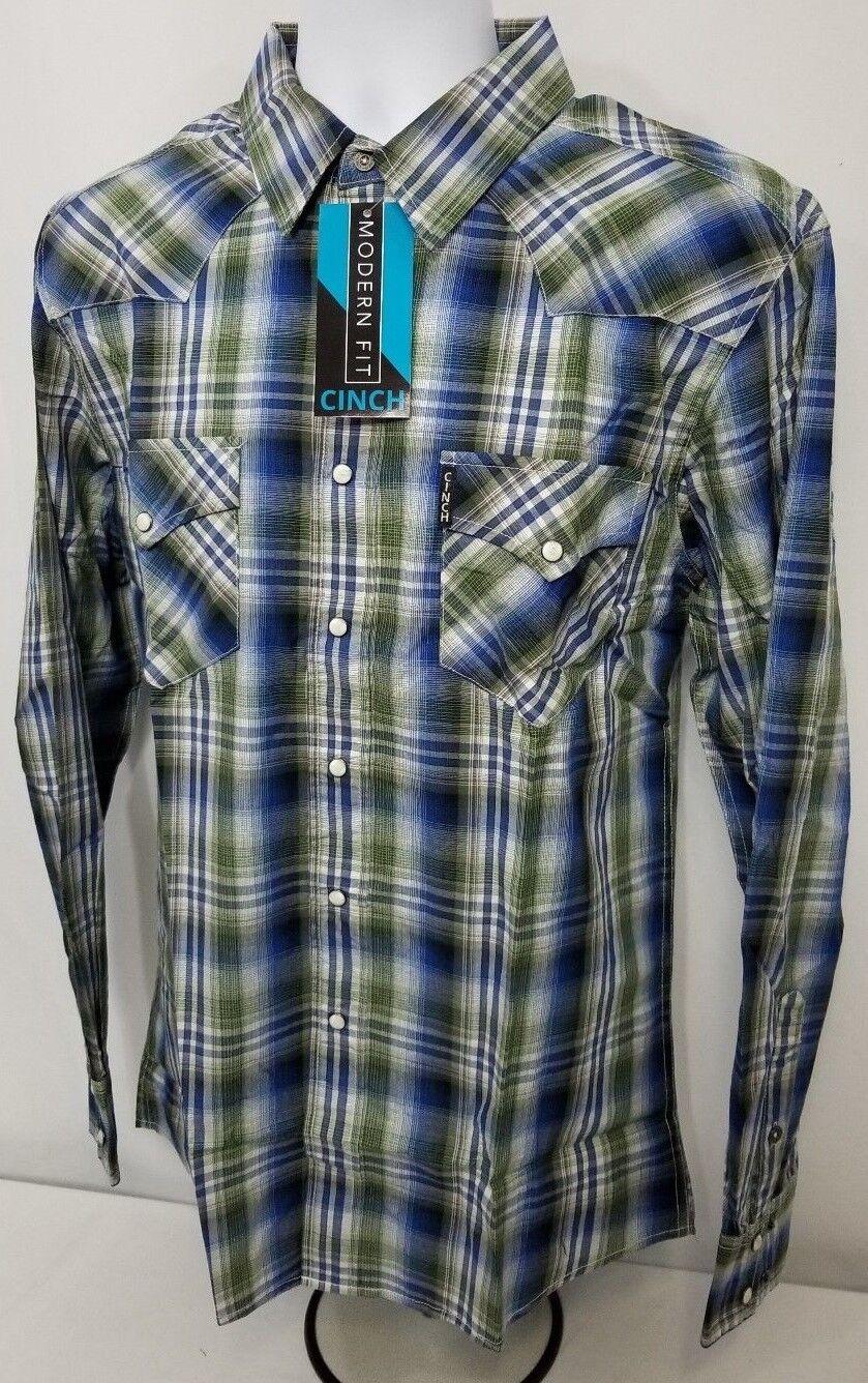 Cinch Western Modern Fit Cowboy shirt snap front in men's size MEDIUM