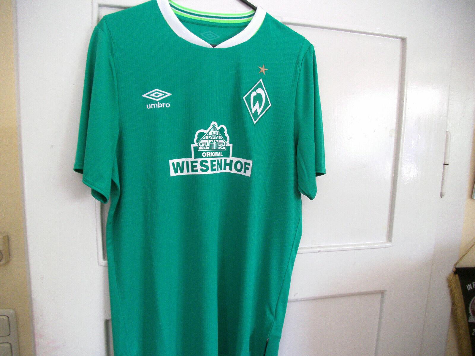 Umbro SV Werder Bremen Heim Trikot Kinder 2019 20 Grün - Weiss  Gr. YM - YXL