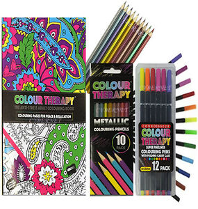 Image Is Loading COLOUR THERAPY ADULT ANTI STRESS COLOURING BOOK 12
