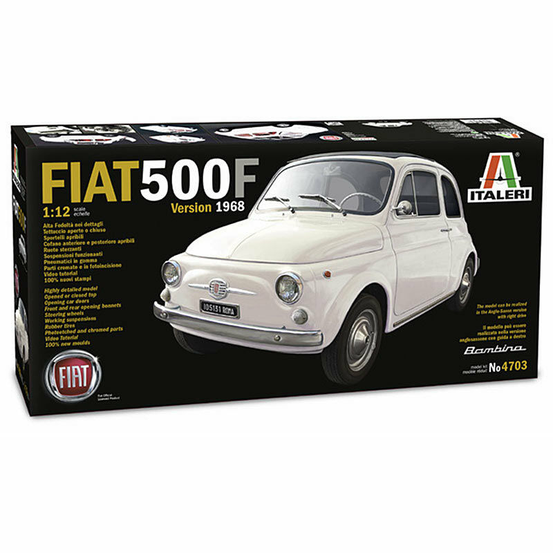 ITALERI Fiat 500F (1968) 4703 1 12 Car Model Kit