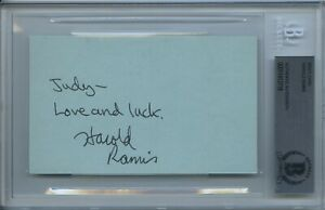 HAROLD-RAMIS-SIGNED-INDEX-GHOSTBUSTERS-STRIPES-RARE-ENCAPSULATED-BECKETT-BAS