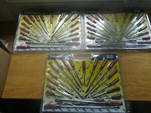 SCREWDRIVERS-LOT-OF-3-SETS-OF-20-PIECES-EACH-PHILLIPS-AND-SLOTTED-NEW