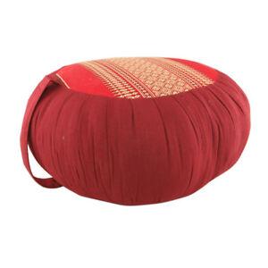 Zafu-Meditation-Yoga-Cushion-with-Carrying-Handle-Red-Maroon-DM24