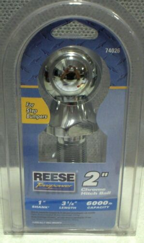 """Wholesale lot of 10 Reese Towpower 74026 Step Bumper Chrome 2/"""" Hitch Ball"""