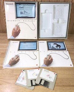 1984 Macintosh 128K MacWrite MacPaint BOX Set! RARE 1st Apple Mac M0001 TESTED!
