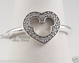 be6d6912f Image is loading Disney-MICKEY-SILHOUETTE-Genuine-PANDORA -Silver-Clear-Cubic-