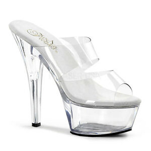 Shoes 202 Band Pole Platform Heel Ladies Kiss Dance Clear Pleaser Stiletto Slide UnHqSgRRwx